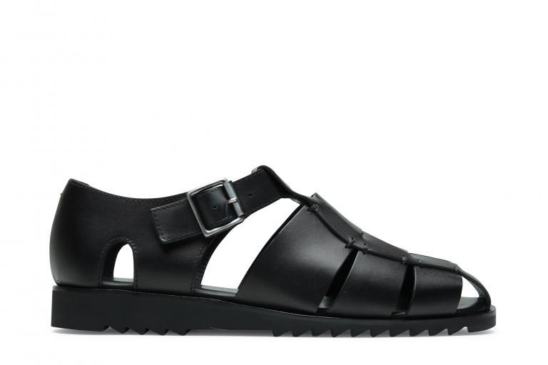 Pacific Lisse noir - Genuine rubber sole