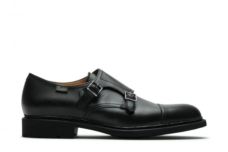 Poe Lisse noir - Genuine rubber sole