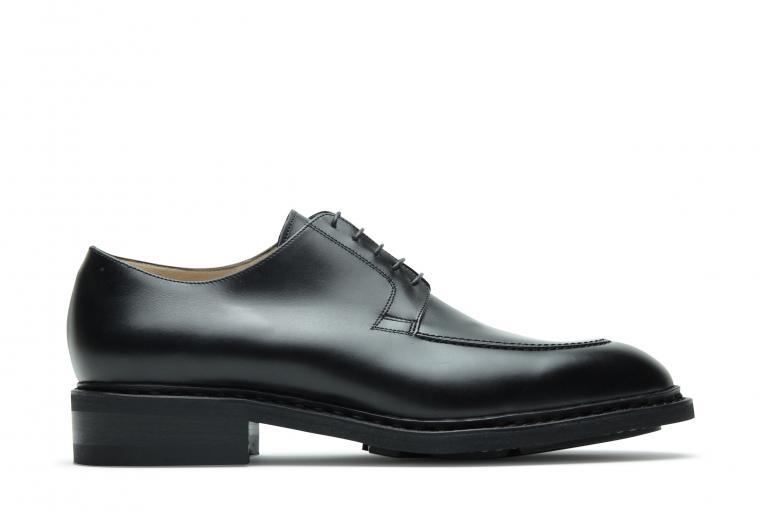 Rousseau Lisse noir - Genuine rubber sole