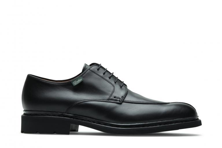 Tournier Lisse noir - Genuine rubber sole